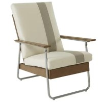 Lila loves showing off her tan lines while applying sunscreen. This Lila Patio Chair with Cushions is relaxed at the perfect angle with its comfortable, striped seat cushion and relaxed demeanor to maximize any chill time.