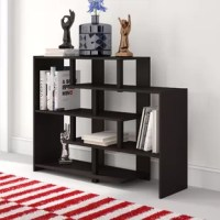 This Colletti Storage Geometric Bookcase is perfect for your office or living area. This storage shelf provides multiple storages or display options for any setting. The open design allows you to easily display various memorabilia, photos, books and much more. This bookcase is a stylish and functional open shelf which consists of 5 shelves. All products are easy to assemble and they all come with step-by-step assembly instruction. The contemporary design will blend into any home; the perfect...