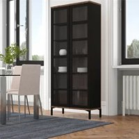 Give your living room an instant update with the Parrino 2 Door display stand. It offers an authentic Scandinavian design with clean lines, a modern two-tone finish. The shelves provide extensive storage for glassware, decorative accessories, and special-occasion server, while two full-length glass doors allow you to display them all.
