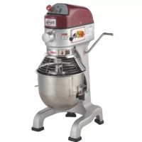 Axis commercial planetary mixer, 20 qt. Capacity, floor model, gear driven, 3 speed controls, side mounted controls, silent operation, digital 30-minute timer, includes stainless steel bowl and guard.