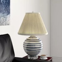 You've found the perfect lamp – now all you need is the perfect shade! Lend a little bit of understated style to your ensemble with this essential shade. This empire design features plated details for a touch of texture and a beige hue for versatility. Made in the USA, it's crafted from linen and includes a spider attachment. This piece measures 17'' W x 13'' D x 12'' H overall.