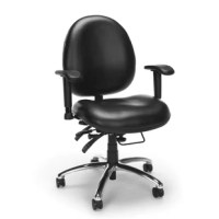 This OFM 24-hour multi-shift chair provides comfortable, ergonomic support 24 hours a day, seven days a week. It's designed to withstand constant use, making it a perfect choice for health care, law enforcement, dispatch and more. The multiple ergonomic adjustments allow incredible custom configurations and precise positioning for comfort hour after hour. Multiple back adjustments including depth, tilt, and tension, and height maximize comfort for any body type; a gas lift seat height...