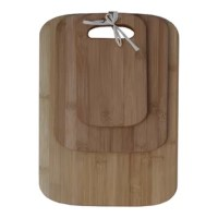 The handy Oceanstar Design 3 Piece Bamboo Cutting Board Set is perfect to chop various kinds of food products. The rectangular boards have a smooth edge with built-in handles that allows for easy handling. The three sizes of small, medium and large of the cutting board let one use them for different purposes. This reduces the chance of cross-contamination and ensures that hygiene is maintained. The 3 Piece Bamboo Cutting Board Set from Oceanstar Design is made from premium quality bamboo, which...