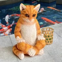 Hanging out with this kitty statue is the purrrrrfect way to unwind. Channel your inner calm by striking a pose with upturned palms and meditating right alongside our favourite feline. Cast in quality designer resin with crossed paws and an unruffled gaze, our design Toscano-exclusive is hand-painted in authentic orange tabby cat colors. A tranquil addition to any decor and a serenely sweet gift for the cat lovers on your list.