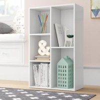 Whether you want to organize your collection of art books or start your own mini library, this bookcase is a perfect pick. It's simple, the clean-lined design is crafted from manufactured wood and features irregular shelves that offer plenty of space to stash reading materials or craft a decorative display. A crisp solid hue completes this design in fine form, making it an excellent addition to a variety of spaces.