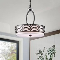 This drum chandelier is a simply elegant and stylish pendant.