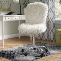 Offer an eye-catching focal point while injecting a pinch of personality into your decor with this office chair. This chair brings the extravagant appeal of the glam-inspired style to your abode. It's crafted from a polished metal frame with five casters down below for easy transport and has a 360° swivel function.