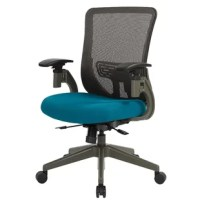 This chair fromspace seating is the office chair you deserve. Designed with a thick padded mesh fabric. The vertical mesh back and height adjustable lumbar support provide the ultimate in comfort and style. Take command with 2-to-1 synchro tilt control with all-included tilt tension and seat slider adjustability. The multitude of functions and luxuries are certain to increase your work productivity. The solution for the perfect office companion is only a purchase away.