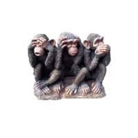 This Hear No Evil, See No Evil, and Speak no Evil features lifelike details and will prove to be a great addition to your garden and backyard. Made with polyresin, this statue is good for both indoors and outdoors.