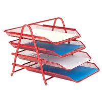 Organize your school supplies and office supplies fast and easy. This blue 4 tier supply organizer will help you from the mess of paperwork all over your desk, or room. The tiers slide in and out for you to have easier access to your supplies.