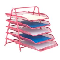 Organize your school supplies and office supplies fast and easy. This black 5 tier supply organizer will help you from the mess of paperwork all over your deskor room. The tiers slide in and out for you to have easier access to your supplies.