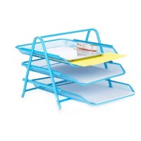 Organize your school supplies and office supplies fast and easy. This black 3 tier supply organizer will help you from the mess of paper work all over your desk or room. The tiers slide in and out for you to have easier access to your supplies.