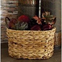 Stow glossy magazines in the living room or spare linens in your master suite with this lovely basket set, showcasing woven wicker designs and a neutral palette.