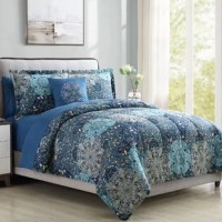 If your restful retreat is feeling a little tired, try swapping out your bedding! This comforter set, for example, is a great option for adding a boho touch to any bedroom ensemble. Sure to give you everything you need to refresh your bedroom, this piece includes a comforter, sheets, pillowcases, shams, and an accent pillow, all crafted from polyester microfiber. Showcasing a damask-inspired medallion pattern, this set is ideal for a globally-inspired touch on any bed. And since it's machine...