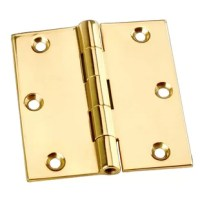 This surface mount hinge is made from a solid block of brass for twice the thickness and strength of most door hinges! The wings are solid brass. Countersunk holes allow mounting screws to fit flush. The cylinder is precision-machined for a perfect fit and the stainless steel pin will never corrode or bind.