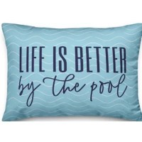 Update your space with this pillow. Designed and printed in the United States, this pillow is sure to freshen up any room.