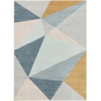 This area rugis purely modern, with reinterpretations of classic motifs as well as geometric designs; warm neutral tones make this rug easy to match your décor. The air twisted polypropylene fiber gives a super plush 0.5