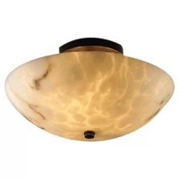 The LumenAria Collection of faux alabaster fixtures provides the warmth and glow of genuine carved alabaster without the cost.