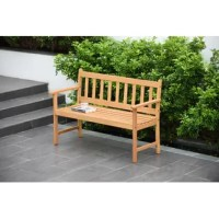 This bench offers both refined design and durability. It is a perfect match for every outdoor space and will give an elegant touch to your garden. High quality certified wood in Eucalyptus is the main material of this outdoor furniture collection. Resistance to humidity and UV radiation makes products durable over the years. Eucalyptus wood and have 100% FSC certification. The genetic care, the correct plantation, well-conducted forest management and the drying of the wood with programs...