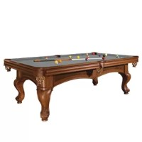 Santini has connected generations through superior craftsmanship and innovation since 1845. This table is backed by a lifetime warranty and supported by the largest dealer network in the business. With its graceful lines, this pool table lends an air of refinement to any room. The 8.5' Slate Pool Table has a gracefully arched base frame, beautiful insert burl veneer framed by elegant edging and bold hand-carved post legs. Included in this package are all the billiard accessories necessary for...