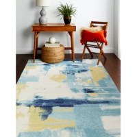 More than anything else, area rugs are art for your floors: They create the mood of your decor, guide the layout of your furniture, and establish a color scheme to follow (or rebel against). A new rug can, and will, dramatically change a room – the fun part is picking one you love! This one for example: features a colorful abstract, and is crafted from 100% polypropylene, with a cotton backing, and 0.38'' pile height. To clean this piece, we recommend regularly vacuuming and professionally...