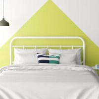 Breathe new life into your bedroom without breaking the bank with this contemporary headboard. Crafted from steel, it showcases a clean-lined silhouette with curved corners, vertical slats, and an open frame for an airy and on-trend feel. A neutral finish helps this versatile design to complement any color palette you dream up. Assembly is required before you can mount it to your bed frame (not included). The manufacturer backs this product with a one-year warranty.