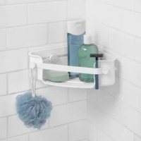 This isn't your typical shower caddy. No need to worry about it falling, tilting sideways, rusting, or running out of storage space. Ideal for shower stalls with limited storage. Introducing the Umbra FLEX Corner Shower Caddy with Our Patented Gel-Lock Technology. The unique twist to grip feature on this corner caddy allows you to lock the suction gel into place, creating a vacuum seal that locks air out, keeping the caddy in place, even when one heavy bottle is placed on one side of the...