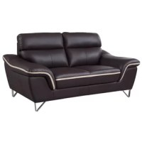 Give your living room setting a modern contemporary charm with this elegant and luxurious living room loveseat. Each piece is designed to be comfortable, stylish, sturdy and built to last for years to come. This loveseat features a luxurious leather upholstery and leather match that provides unmatched comfort and quality. Experience exceptional comfort with its foam density of 2.8 for the seat. Each seat includes a pocket coil with foam for added comfort. This piece brings not only the value...