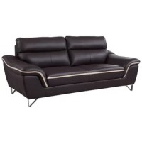 Give your living room setting a modern contemporary charm with this elegant and luxurious living room sofa. Each piece is designed to be comfortable, stylish, sturdy and built to last for years to come. This sofa features a luxurious leather upholstery and leather match that provides unmatched comfort and quality. Experience exceptional comfort with its foam density of 2.8 for the seat. Each seat includes a pocket coil with foam for added comfort. This piece brings not only the value but also...