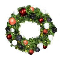 Full, Lush, Beautiful is the The Holiday Aisle artificial Sequoia wreath. Each Sequoia Pine branch is artfully crafted for the utmost realism creating an eye-catching appeal you'll love for years to come!