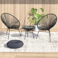 This Collection blends mid-century design with modern funk to create a new standard of comfort and style. The collection is inspired by woven furniture that was popular in Central America in the 1950s and '60s, featuring a breathable and supportive design. It makes this Collection ideal for unwinding even in the warmest climates. The collection is constructed with powder-coated steel frames, making it incredibly durable and weather-resistant. The black frame is wrapped in a supportive Glacier...
