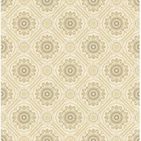 This opulent wallpaper pattern boasts a rich, dignified color palette and traditional appearance. The distinctive visual textures will add a luxurious yet sophisticated look to you wall surfaces.