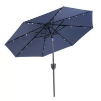 This umbrella is a versatile item that moves seamlessly from day to evening use. Easily connects to your mobile device and provides crisp sound quality for all to enjoy. This beautiful accessory will transform any outdoor area into your favorite place to relax with friends, or enjoy a meal at your outdoor table even after the sun goes down. The canopy is polyester with upgraded colorfastness and water-resistant coating, so it is durable and ready to stand up to the elements. This umbrella...