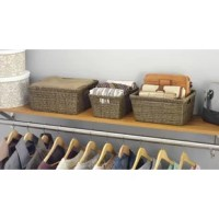 This basket set offers you a convenient and stylish way to store office supplies, magazines, hand towels, and washcloths. With the look of rattan and the convenience of resin, this durable basket set can be easily wiped clean and have built-in handles for easy transporting. The set includes small, medium and large sizes that have sturdy metal frames. Use these storage baskets to store CDs, DVDs, books, and magazines. These storage baskets offer a stylish way to organize almost any space in your...