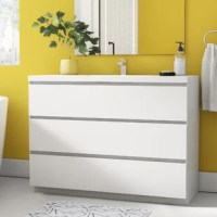 Bring streamlined, contemporary style to your bathroom with this 47