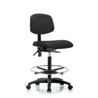 These vinyl upholstered chairs adjust to fit most body types and workstations. Optional 6-way adjustable armrests support a variety of arm placements for proper ergonomics. Additional ergonomic benefits include a contoured waterfall seat cushion and an adjustable backrest with lumbar support for increased comfort during extended sitting durations. Vinyl chairs are constructed of highly durable molded polyurethane foam cushioning covered with easily cleaned antibacterial or antimicrobial vinyl...