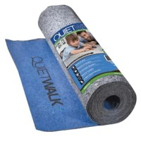 This underlayment is a premium choice allowing firm support for multiple types of flooring with great acoustic benefits. Built with sound reduction and moisture dissipation in mind. The standard vapor barrier is specially designed for an optimal bond with adhesives for easy installation.
