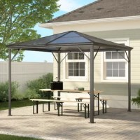 Create an oasis in your backyard with this elegant, enchanting gazebo. Perfect for shelter from the heat of the sun, this is made from the highest quality materials and built to last. Everyone will love this as much as they do.