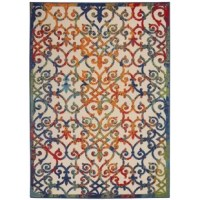 Perfect for adding an eye-catching touch to your space and softening hardwood or tiles, this area rug is a welcoming accent throughout your home. Power-loomed in Turkey from polypropylene, this piece features a water- and fade-resistant design that makes it perfect for use in both indoor and outdoor spaces. Plus, it's high-low pile adds a textured touch to any room. And thanks to its multicolored trellis motif, it's perfect for a classic feel on your floors. We recommend adding a rug pad to...