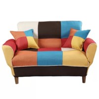 Add a jolt of color to your home. Whether it is the living room, den, or bedroom, this Sleeper will be perfectly fit into it. Multicolor upholstery brightens up any room while sturdy wood legs add a sophisticated finish. The soft cushions make a perfect place to lounge alone.