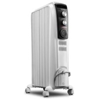 """The DeLonghi High Performance Radiant Heater with mechanical controls is the fastest heater with a revolutionary new design that effectively and efficiently heats cold rooms with 25% more radiant surface. The patented thermal """"chimney effect"""" quickly circulates warmed air throughout the room producing maximum heat with a low surface temperature. Plus, the advanced Eco-Plus function intelligently selects the ideal power level based on the delta between the current room temperature and the..."""