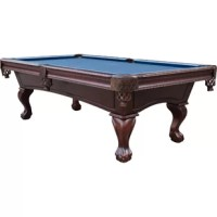 This pool table made from select hardwoods, precision machined components and finely honed slate, the pool table is engineered for a quality assembly and a lifetime of reliable play. All components assemble via machined bolts and inserts.