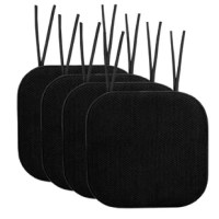 Sitting on a hard wooden or metal chair is just uncomfortable. No need to suffer through another dinner shuffling around in your seat to find a soft spot and nbsp. Toss these great-looking cushions on your dining room chairs for a quick way to soften up the place. Secures to your chair with ties to avoid slippage.
