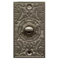 Leave your mark on the entryway of your home or business with one of the gorgeous hand-crafted doorbell button. This beautiful and unique button will dress up any door or entryway. Rugged push button gives a positive solid feel will give years of trouble-free service. This doorbell button is easy to install and can be used to activate your door chime (not included) and can also be used to replace most wired garage door openers.