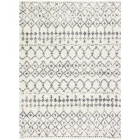 This rug features striking global-inspired designs that endure at the forefront of contemporary trends. The meticulously woven construction of this piece boats durability and will provide natural charm into your decor space. Made with polypropylene and polyester in Turkey, and has a plush pile. Spot clean only with a one-year limited warranty.