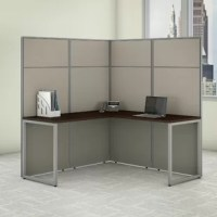 This cubicle offers a simple configuration that can be set up quickly, yet is durable enough to withstand the rigors of everyday use in a fast-paced professional environment.