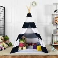 Every child loves very own teepee kids play tent that they can have countless hours of fun and creative play. This fun-inclined kid's teepee tent adds to the decoration of any place. Have the little world, just reading, playing, or staying alone. Blends perfectly with children rooms, living rooms, and playhouses. Great luxury playroom for kid's sleepover parties, baby showers, weddings, birthdays, and beach parties.