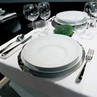 While displaying delicate curvaceous qualities, these pieces are not a menagerie of cuts or patterns. Made of mirror polished 18/10 stainless steel, they complete a table setting without overpowering it, and are simple and elegant enough for any dining space.