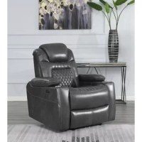This comfy, cozy, microfiber power recliner makes a fabulous finishing touch to any living space. Crafted with maximum style and functionality, it offers lay-flat technology for superior relaxation. A thick, plush layer of memory foam adds an extra level of comfort. Soft, sumptuous microfiber upholstery makes it exquisitely soft to the touch. Combine this contemporary recliner with a matching sofa and loveseat to complete your living room in style.