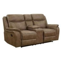 This reclining console loveseat features heavy duty 300 pounds rated easy close mechanisms for years of exceptional comfort. The power recline and power adjustable headrest feature allow you to adjust each reclining seat to the optimal comfort for you. Store your remote controls and other digital devices in the storage console for easy access. Keep all your devices charged with the 2 USB charging ports and 2 AC outlets built into the storage console. Covered in a pleasing to the touch, durable...